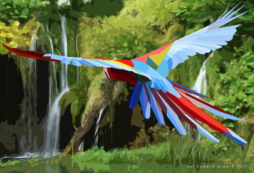 Scarlet Poly Macaw by AVAdesign
