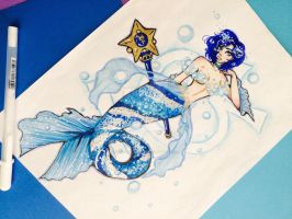 Mermaid Sailor Mercury by olufemidollie