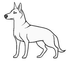 Free PAINT dog Lineart by Ziboe