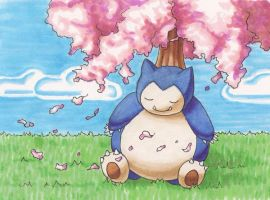 Snorlax by AimeeHanley