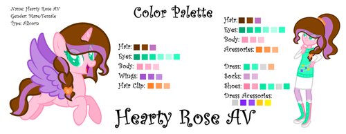 My New Color Palette (With No Background) by SparkleHeartyRose24