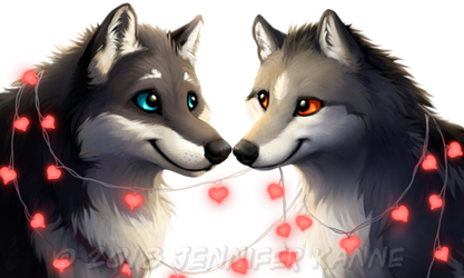 Wolf - Rannoch and Liffey avatars by OnyxSerpent