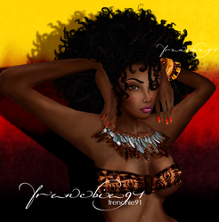 Afro Beauty by frenchie91