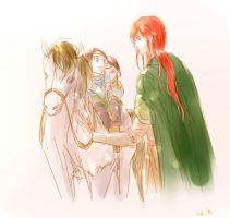 Maedhros, Elrond and Elros by MintKim