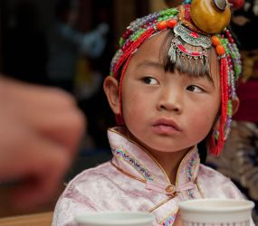 wise tibetan little girl by psychonaute