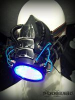 The Leviathan cyber LED rave gas mask by TwoHornsUnited