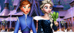 MMD PICTURE OLAF FROZEN ADVENTURE, ELSA AND ANNA by Spirilynx
