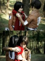 Mikasa and Eren by Hunter-Mihael-Keehl