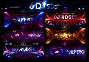 6 DJ's FB Timeline Cover by ranvx54