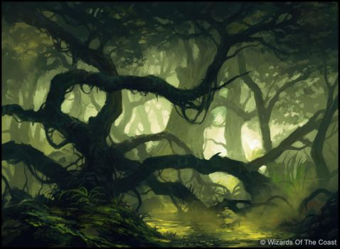 MTG - Swamp by andreasrocha