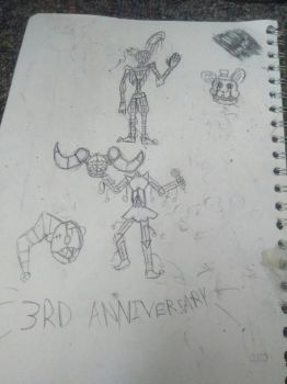 fnafs 3rd anniversary drawinds by THEREALENDERSKY