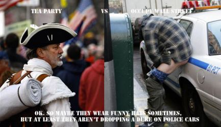 T Party Vs Occupy Wall Street by BluePhoenixx
