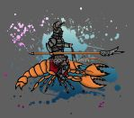 A Knight on a Lobster! by ImportAutumn