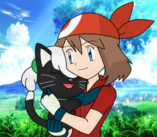 PKMN // May's Little Kitty (PC) by Tuff--Rubies