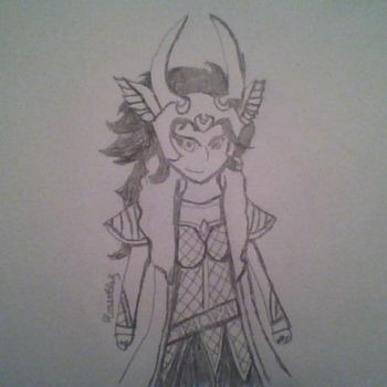 Tenth Realm Loki Sketch by MoonlitFlames