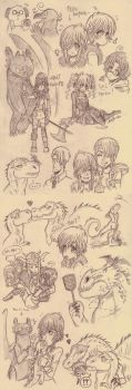 Lots O' Hiccups doodledump by ShiroiAngelz
