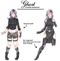 :Marvel OC: Ghost by MikuParanormal