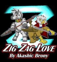 Zig Zag Love: Reagle and Zaza by Sword-of-Akasha