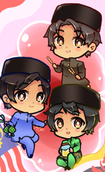 The Malay Trio by Meng-Chii