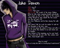 Jake Demon - Character Profile by Xiaoyu85ve