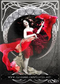 Gothic Art Nouveau with Salome Karakal by DieElster