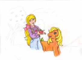 Apple Jack and Megan by okiegurl1981