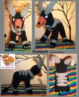 Houndoom crochet plushie