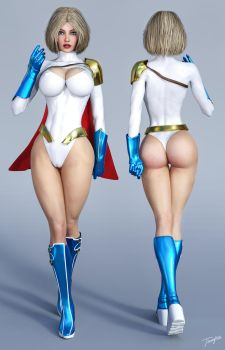 Character Reference Power Girl by tiangtam