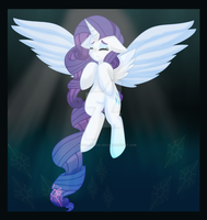 Rarity Alicorn Print by Crystal-Junkie-GSV