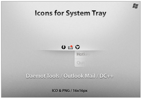 Icons For System Tray 2 by ncrow