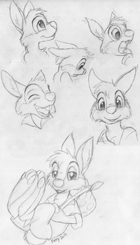 Br'er Rabbit Practice Sketches by TwilightFlopple