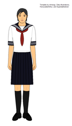Japanese-style school uniform by kyuzoaoi