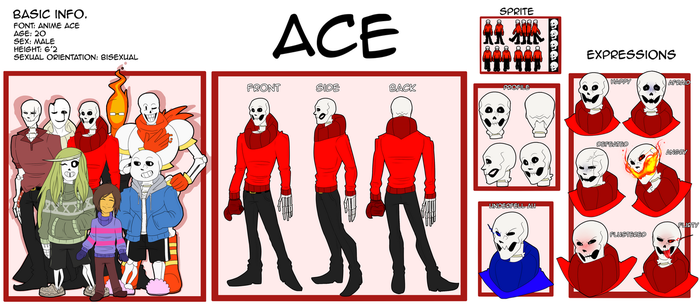 Undertale OC- Ace Reference Sheet 2017 by putt125
