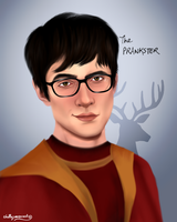 James Potter/Prongs by chillyravenart