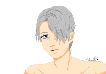 Yuri!!! on Ice- Viktor Nikiforov MS Paint by Adenlina