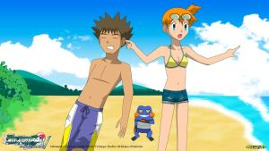 PKMN V - Misty, Brock, and Croagunk