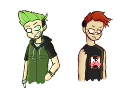 CJ's versions of Darkiplier and Antisepticeye | YT by Puppyrelp