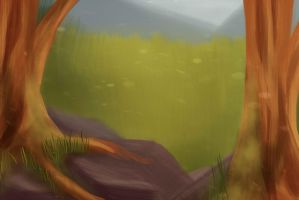 Poop background for a test animation by Ferklys