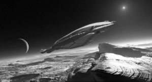 Titanica Upon Plutonian Shore by OliverInk