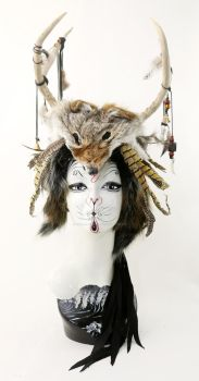 Wild One Antler Headdress by ctrlaltvamp