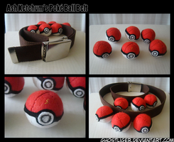 Plush Pokeball Belt by GhostLiger