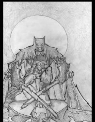Jedi Batman by greenhickup