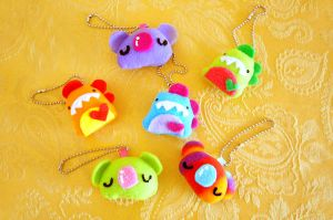 Plush Keychains by casscc