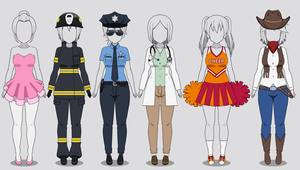 Kisekae Costume Collection 1: Jobs (w/ codes) by RainbowFan256