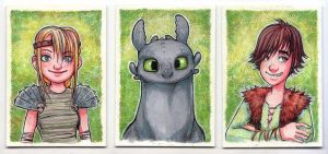 ACEO - HTTYD Set 1 by fusspot