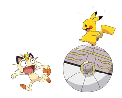 Magearna Pikachu and Meowth