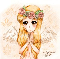 Praying Angel by chibimeganekko-tan