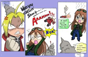 Edward Elric ~ le Shorty (Coloured!) by NetworkDreamer