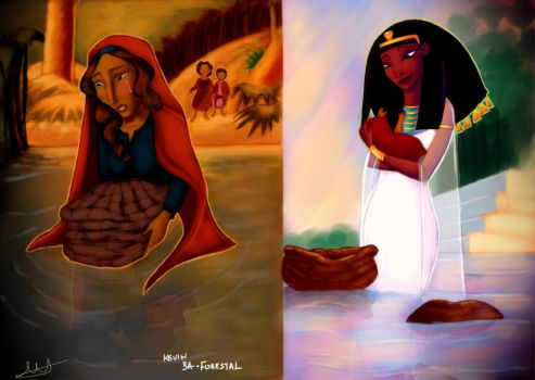 Prince of Egypt The Basket on the river by Kevsoraone