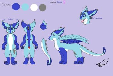 Tuna the Dutch Angel Dragon Reference Sheet by CurruptedCynder